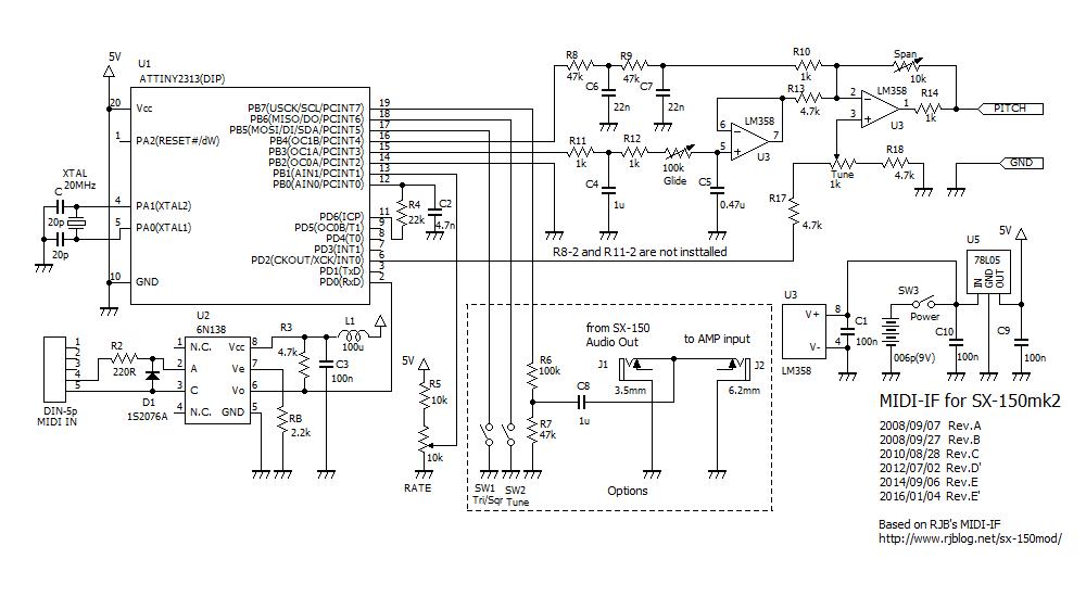 midi if for sx 150mk2 kit rh beatnic jp Midi Cable Pinout Mixer Console Wiring Diagram