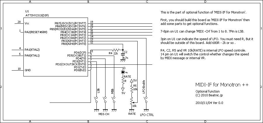 MIDI-IF for Monotron Delay
