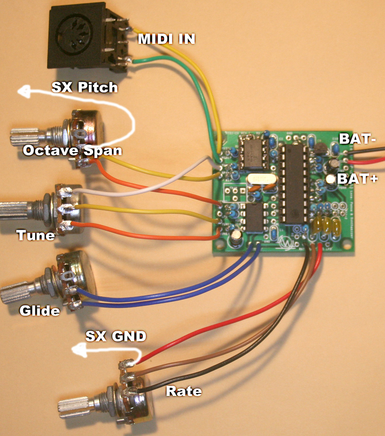Midi If For Sx 150 Kit V2 Cable Wiring Configuration